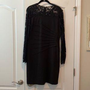 Long sleeve black lace dress